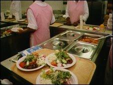Kitchen staff preparing food