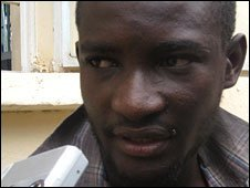 Boko Haram sect member Abdulrasheed Abubakar, 23, who says he was trained in Afghanistan