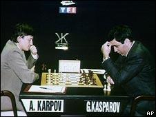 Anatoly Karpov and Garry Kasparov
