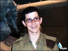 Gilad Shalit in Israeli army uniform before his capture