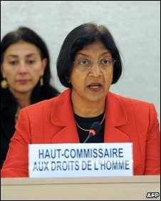 Navi Pillay in Geneva, 15 Oct