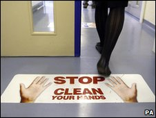 'Clean hands' warning in hospital (PA)