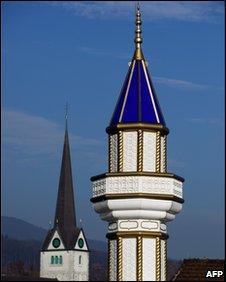 One of four minarets in Switzerland