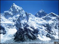 Mount Everest and Khumbu glacier