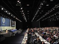 Plenary hall at the Copenhagen summit (Image: AFP)