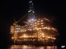 Angolan oil platform