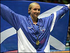Scottish swimmer Caitlin McClatchey