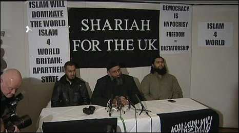 Al-Muhajiroun's press conference after being banned