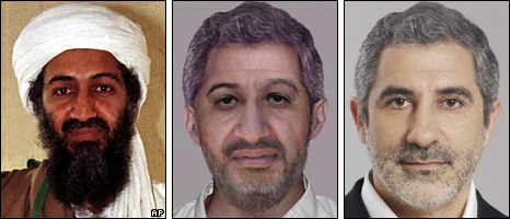 From left: Osama Bin Laden (1998); Photo-fit of Osama Bin Laden, aged 52; Gaspar Llamazares (Izquierda Unida)