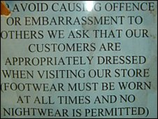 Notice at the Tesco store in St Mellons, Cardiff