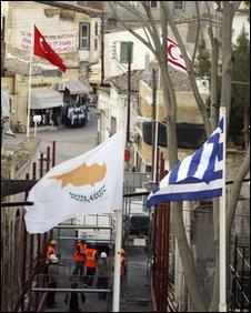 Flags in Nicosia