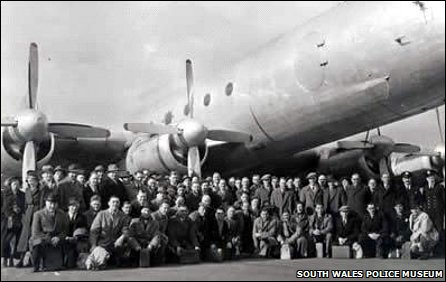 Passengers and crew before the Llandow air disaster in 1950 (Pic: South Wales Police Museum)