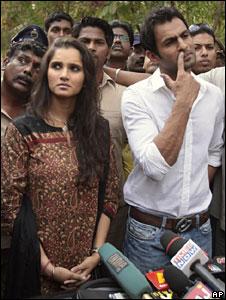 Sania Mirza and Shoaib Malik