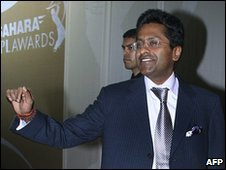 Lalit Modi attends an IPL awards ceremony in Mumbai, 23 April