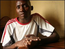 ex-Zambian inmate Bright [Photo by Kieron Humphrey]