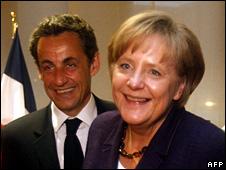 Nicolas Sarkozy and Angela Merkel (7 May 2010)