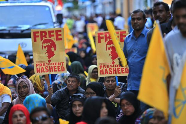 So far six Maldivian opposition MPs have been arrested for holding street protests