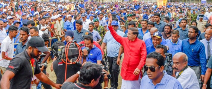 Decision to observe May Day on May 7 costs Lankan President Sirisena his party trade union