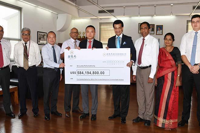 Chinese company pays last tranche of US$ 584 million for Hambantota port