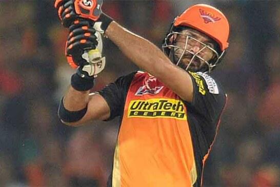 आइपीएल के पहले मैच में युवराज ने किया कमाल