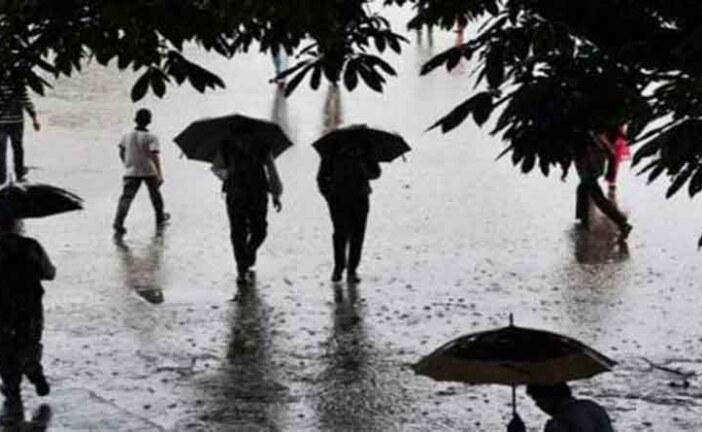पांच जिलों में भारी बारिश की चेतावनी