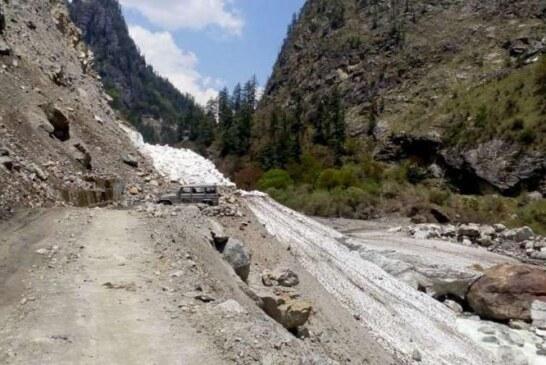 पहाड़ के इस जिले में खिसका ग्लेशियर, 14 गांवों के ग्रामीणों का रास्ता हो गया पूरी तरह बंद