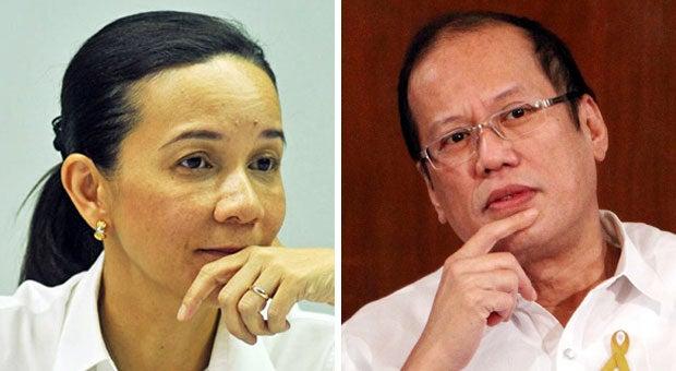Senator Grace Poe and President Benigno Aquino III. INQUIRER FILE PHOTOS