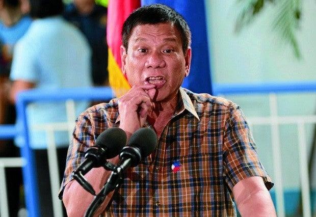 President Rodrigo Duterte. FILE PHOTO