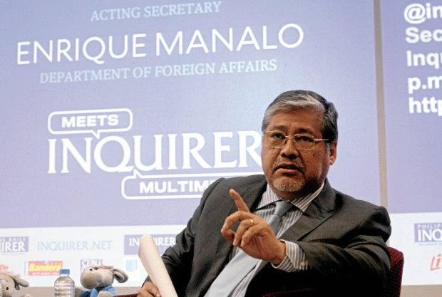 Acting Foreign Secretary Enrique Manalo —RICHARD A. REYES