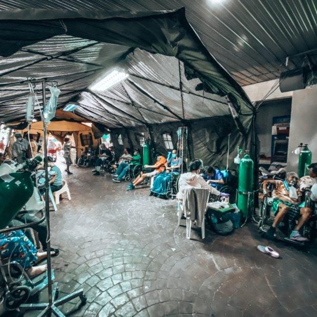NKTI, A hospital scenario captured by an employee at a government hospital in Quezon City, Metro Manila