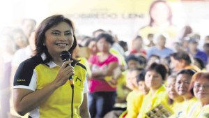 Vice President elect Leni Robredo.
