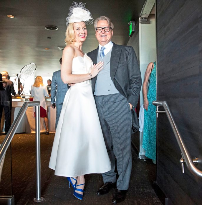 Mark Flaherty and Mary McKinney pose for a portrait during their wedding on Sunday, Oct. 23, 2017 at Monterey Bay Fish Grotto in Mount Washington. (Antonella Crescimbeni/Post-Gazette).