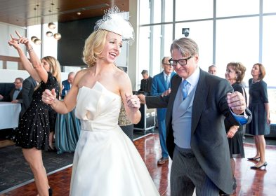 Mark Flaherty and Mary McKinney dance at their wedding on Sunday, Oct. 23, 2017 at Monterey Bay Fish Grotto in Mount Washington. (Antonella Crescimbeni/Post-Gazette).