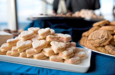 An array of cookie platters are served at Mark Flaherty and Mary McKinney's wedding on Sunday, Oct. 23, 2017 at Monterey Bay Fish Grotto in Mount Washington. (Antonella Crescimbeni/Post-Gazette).