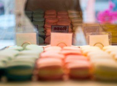 Macarons are photographed at Jean-Marc Chatellier Bakery on Wednesday, Jan. 31, 2018, in Millvalle. (Steph Chambers/Post-Gazette)