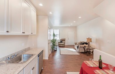 Another view of the living space at 524 Stanton Ave. in Millvale. (Gene Yuger/Pittsburgh Real Estate Media)