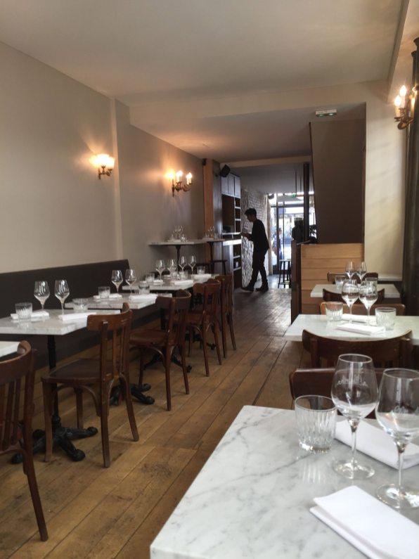 Inside the small bistro atmosphere of Ellsworth at 34 Rue de Richelieu, Paris. (Patricia Sheridan/Post-Gazette)