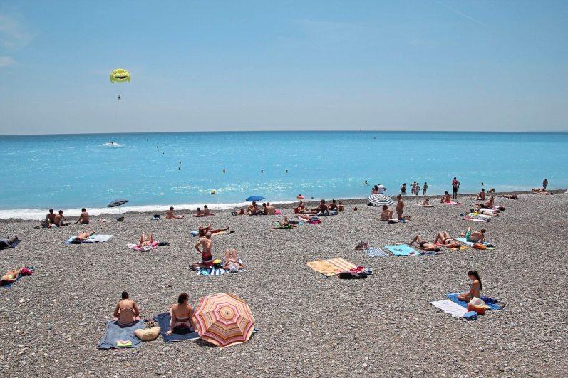 The beach in Nice France. (Patricia Sheridan/Post-Gazette)