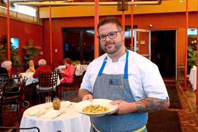 Executive chef Dustin Gardner of Casbah. (Lake Fong/Post-Gazette)