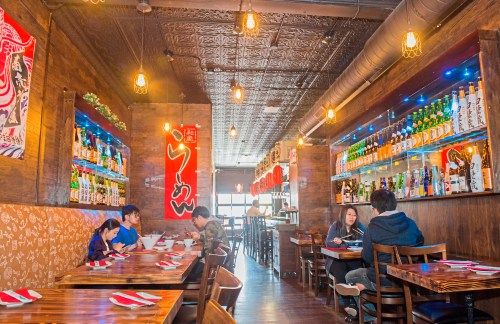 The interior of Fujiya Ramen is pictured on Friday, April 27, 2018 in Shadyside. (Lake Fong/Post-Gazette)
