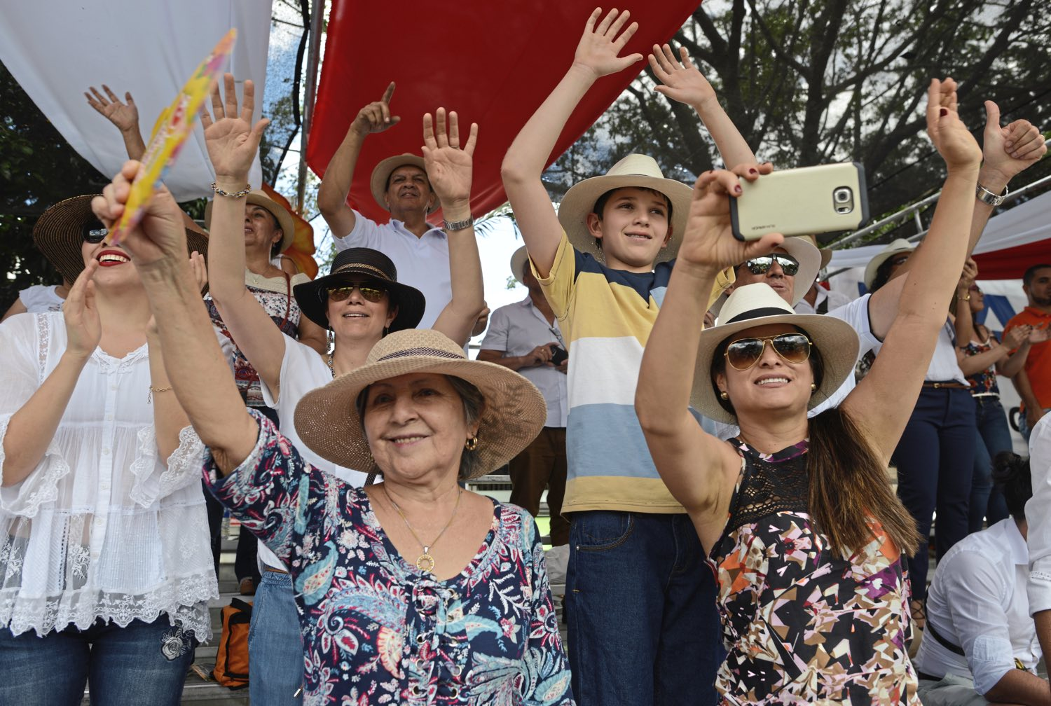 Thousands of fans cheer Monday Aug. 7, 2017, during the 60th anniversary of the flower festival in Medellin, Colombia. (Nate Guidry/Post-Gazette)