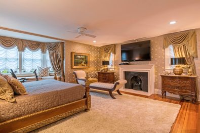 The Master bedroom with gas fireplace at 5228 Westminster Road, Shadyside. (Howard Hanna Real Estate)