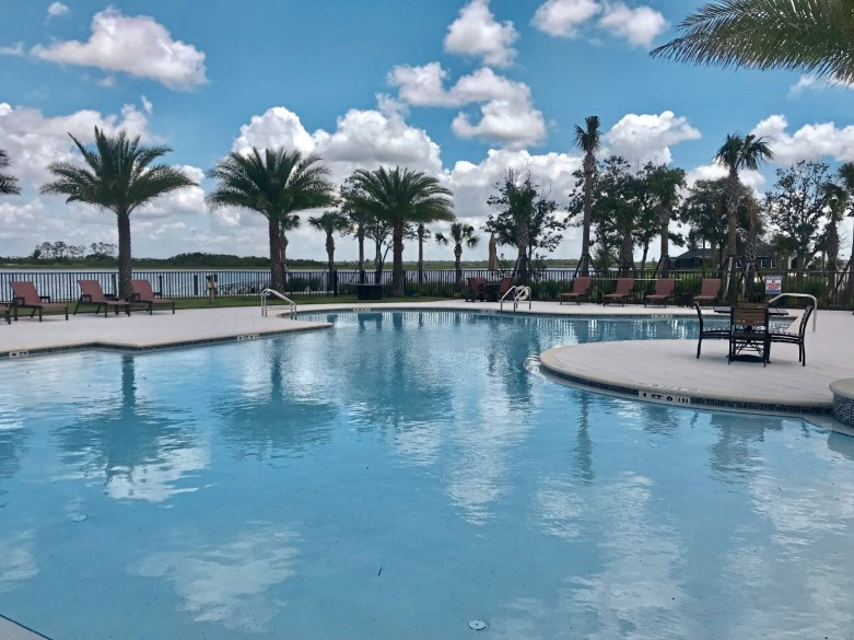 One of the community/ neighborhood pools at the new Babcock Ranch solar town in Southwest Florida. credit Patricia Sheridan