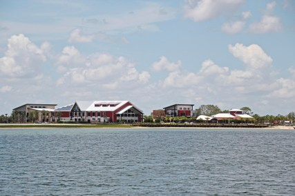 Distinction A view of the center of of Babcock Ranch solar town from across one of the several man made fresh water lakes. credit Patricia Sheridan