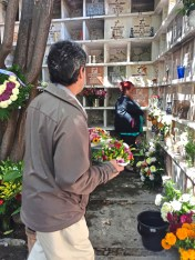 Distinction Visiting the crypts of loved ones during the Day of the Dead in San Miguel de Allende, Mexico. credit Patricia Sheridan
