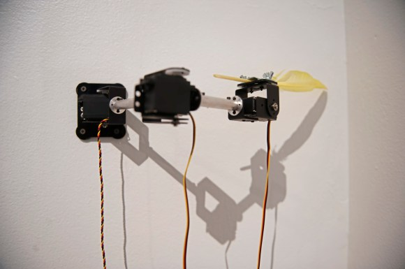 """Art installation """"Machine That Tickles the Wall"""" by Ali Miharbi is seen at the Space gallery on Wednesday, Oct. 24 , 2018, in Downtown. It is part of the Machine Culture installation which is comprised of work from international artists with pieces that all have moving parts. (Andrew Stein/Post-Gazette)"""