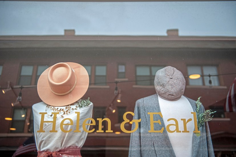 Items for sale in the front window of Helen & Earl in Dormont. (Andrew Stein/Post-Gazette)