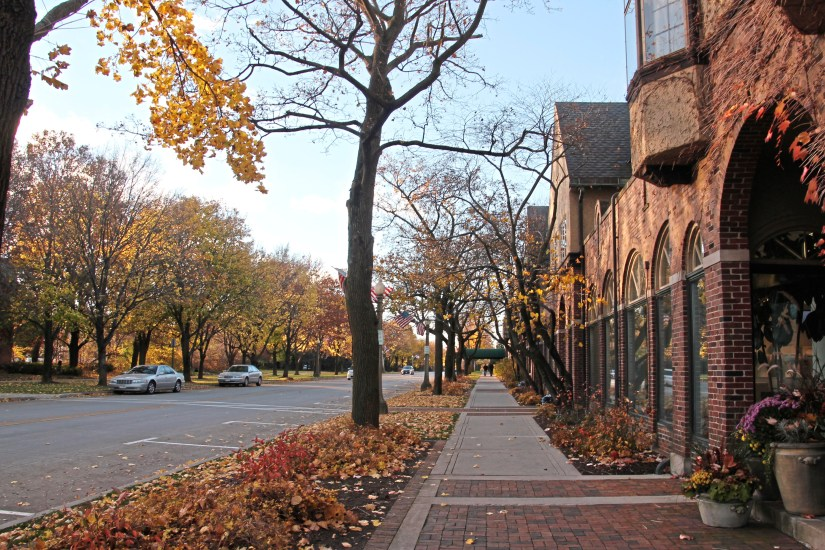 The main street in Kohler, Wis., runs by The American Club and the Kohler factory and old headquarters. (Patricia Sheridan/Post-Gazette)