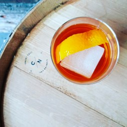 A Barrel-Rested Gin Old Fashioned made from Quantum Spirits of Carnegie. (Sarah Kanto/Quantum Spirits )
