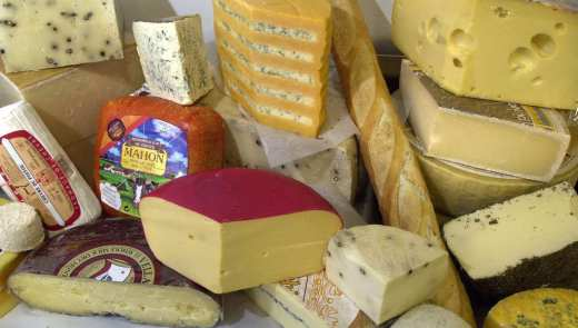 A sample of cheese at Pennsylvania Macaroni in the Strip District. (Bill Wade/Pittsburgh Post-Gazette)
